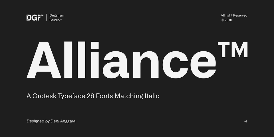 Alliance font page
