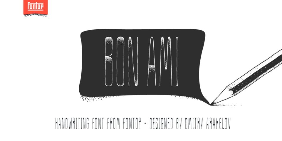 Bon Ami font page