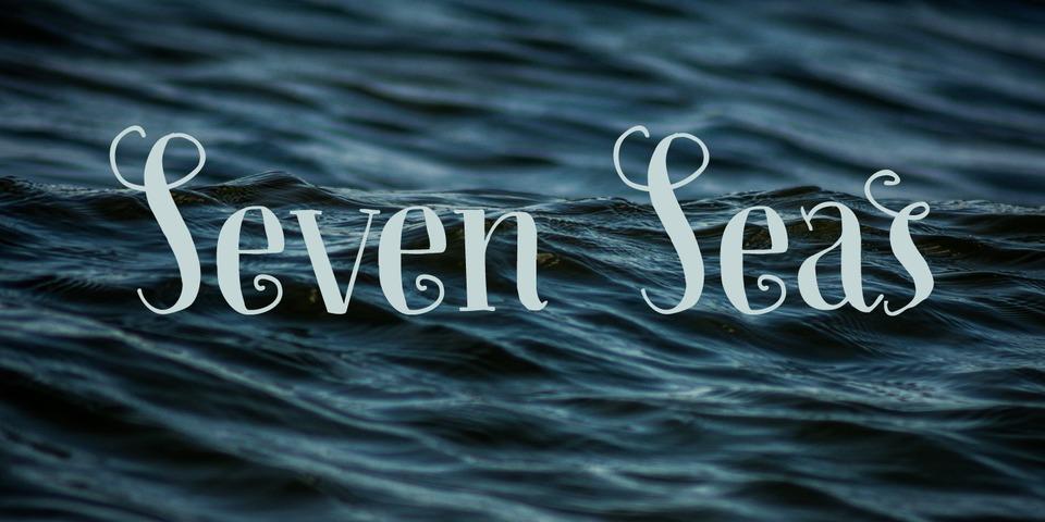 Seven Seas font page