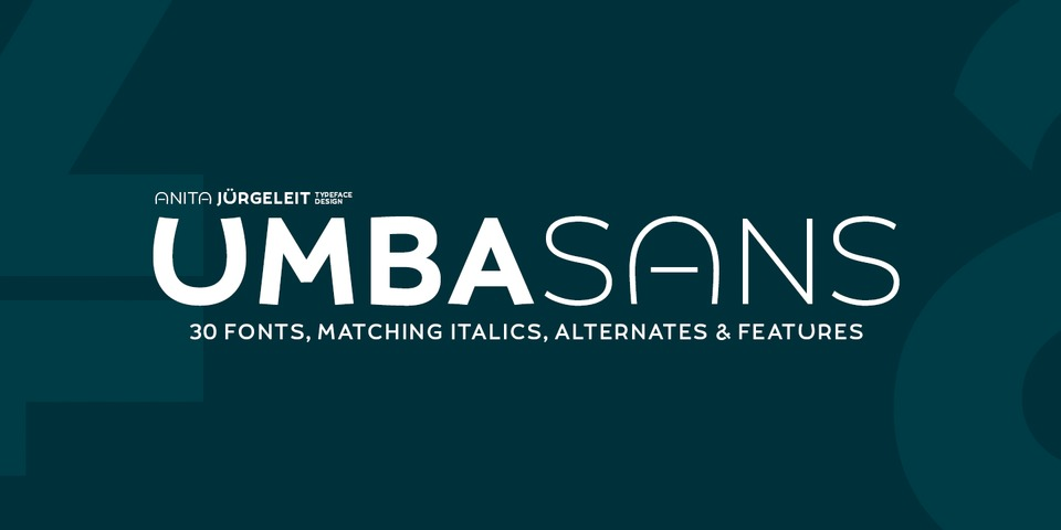Umba Sans font page