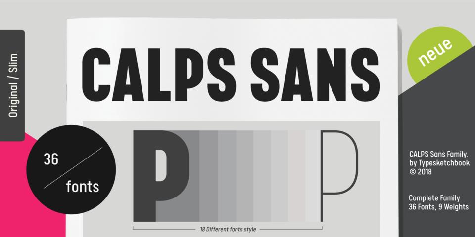 Calps Sans font page