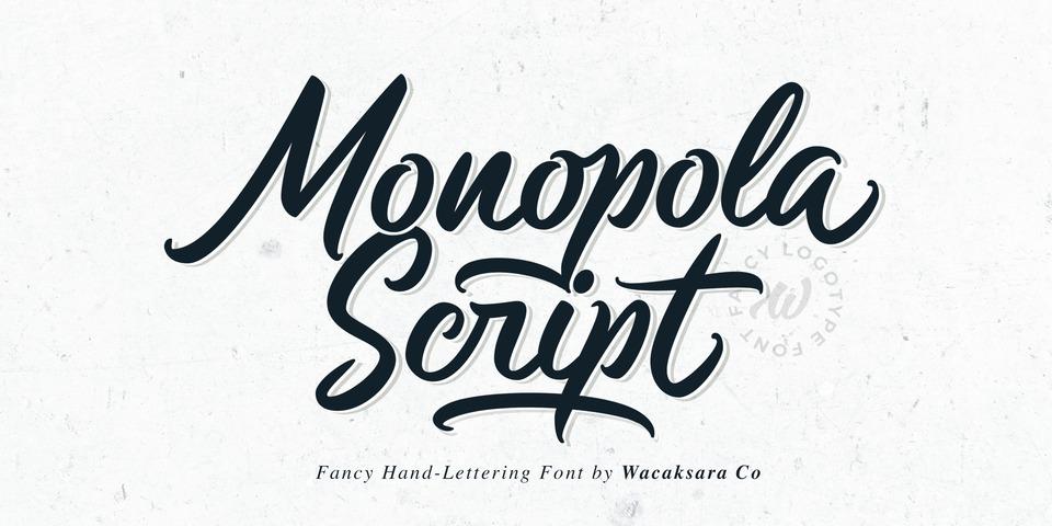 Monopola Script font page