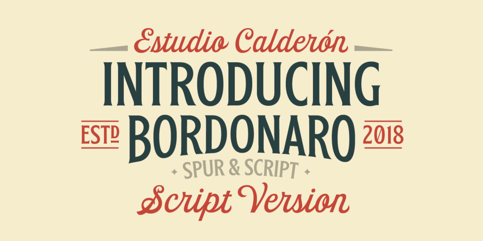 Bordonaro Script font page