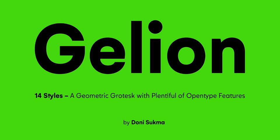Gelion font page