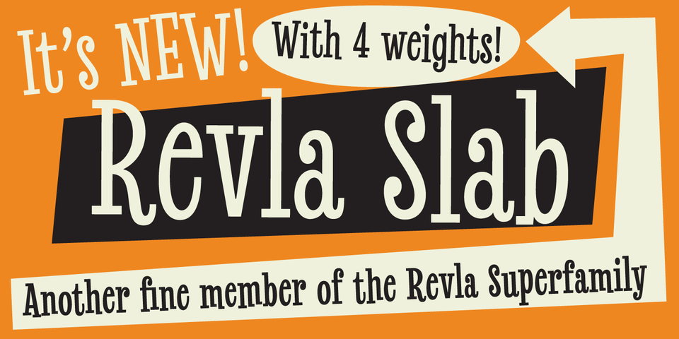 Revla Slab font page