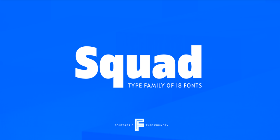 Squad font page