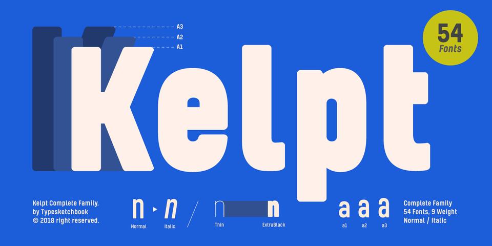 Kelpt font page