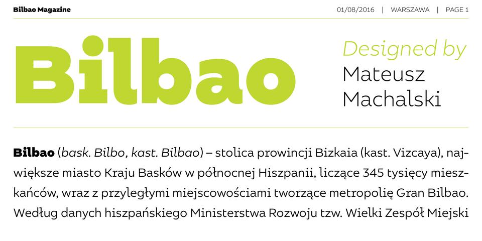Bilbao font page
