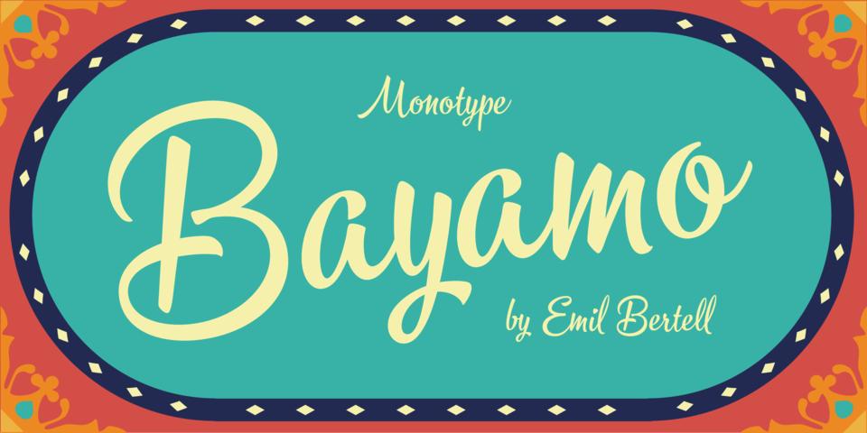 Bayamo font page