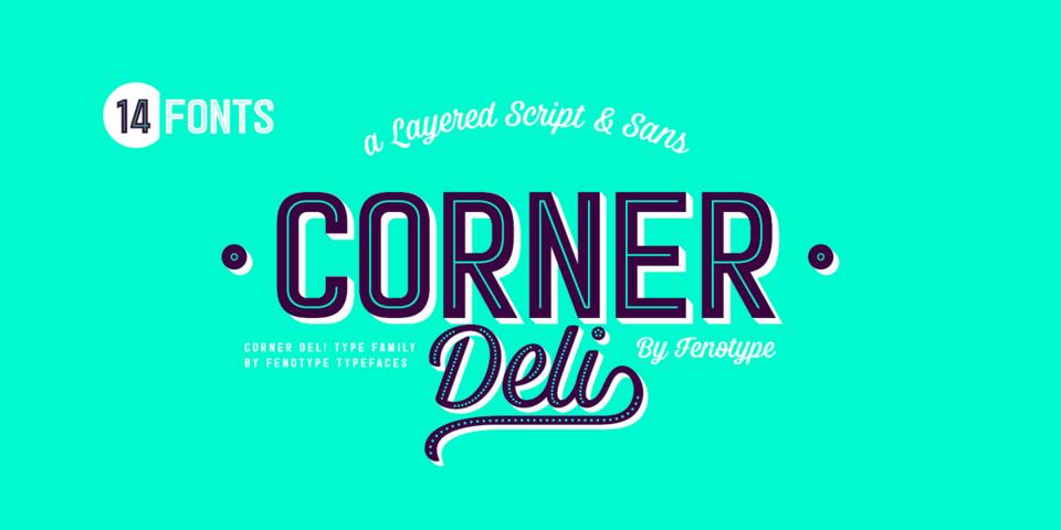 Corner Deli font page