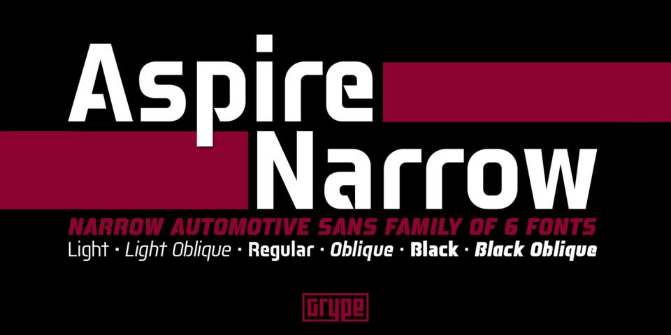 Aspire Narrow font page
