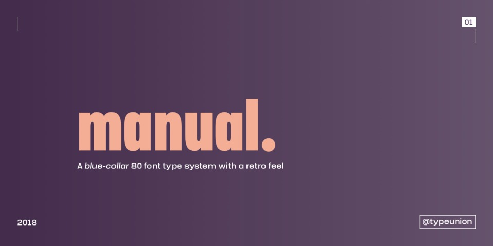 Manual font page
