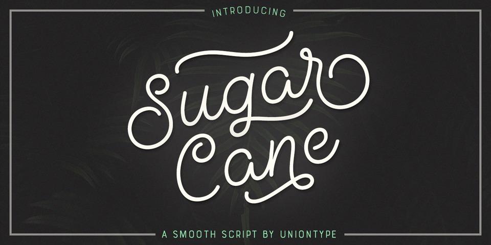 UT Sugar Cane font page