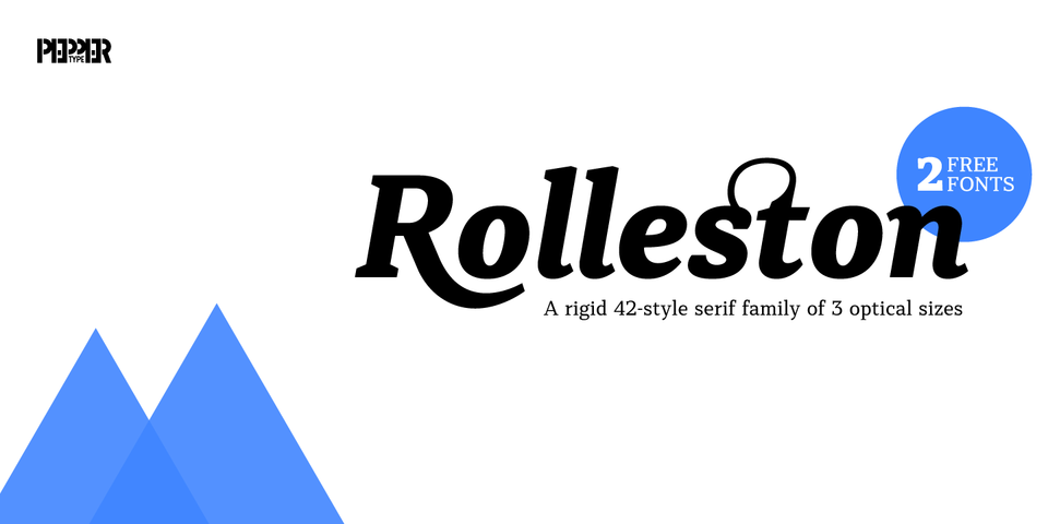 Rolleston font page