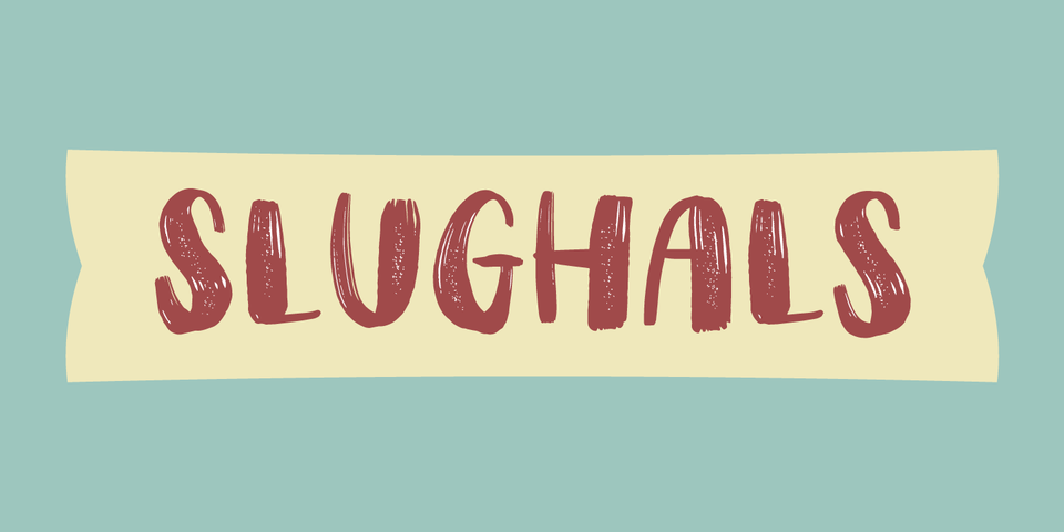 Slughals font page