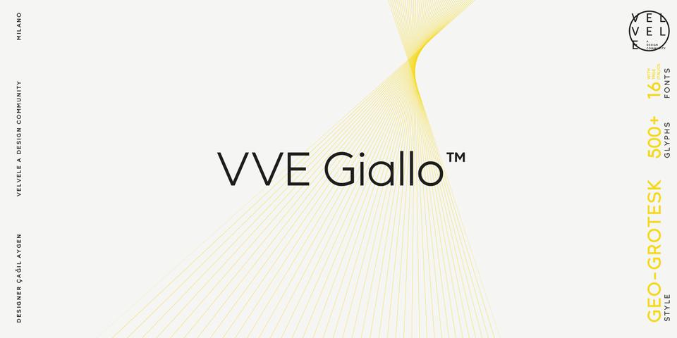 VVE Giallo font page