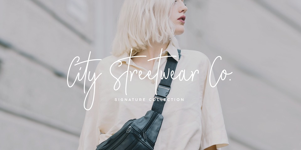 City Streetwear font page