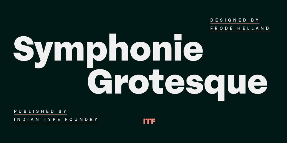 Symphonie Grotesque font page
