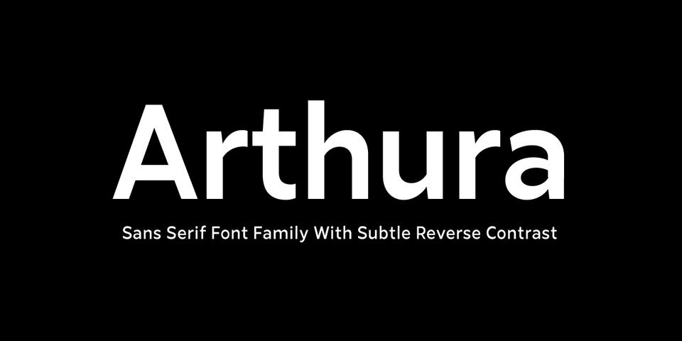 Arthura font page