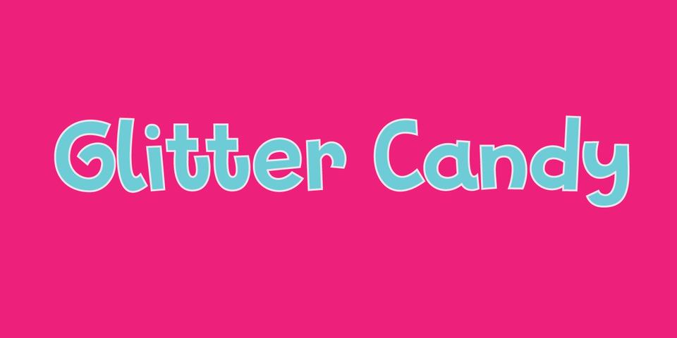 Glitter Candy font page