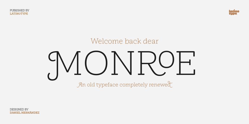 Monroe font page