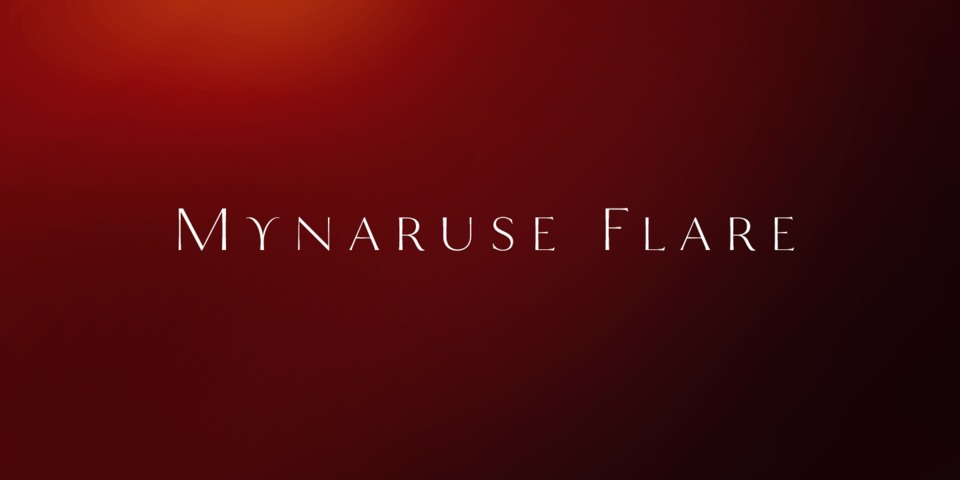 Mynaruse Flare font page