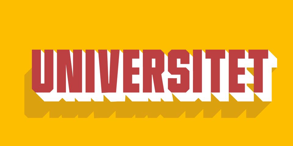 Universitet font page