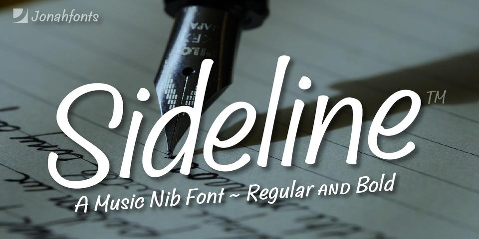 Sideline font page