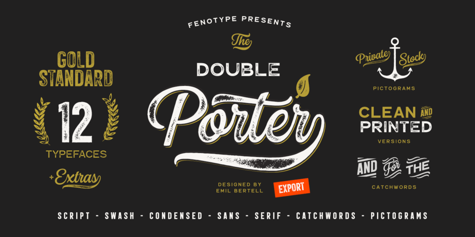 Double Porter font page