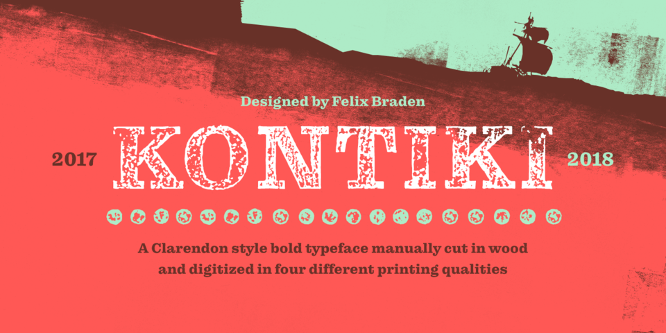 Kontiki font page