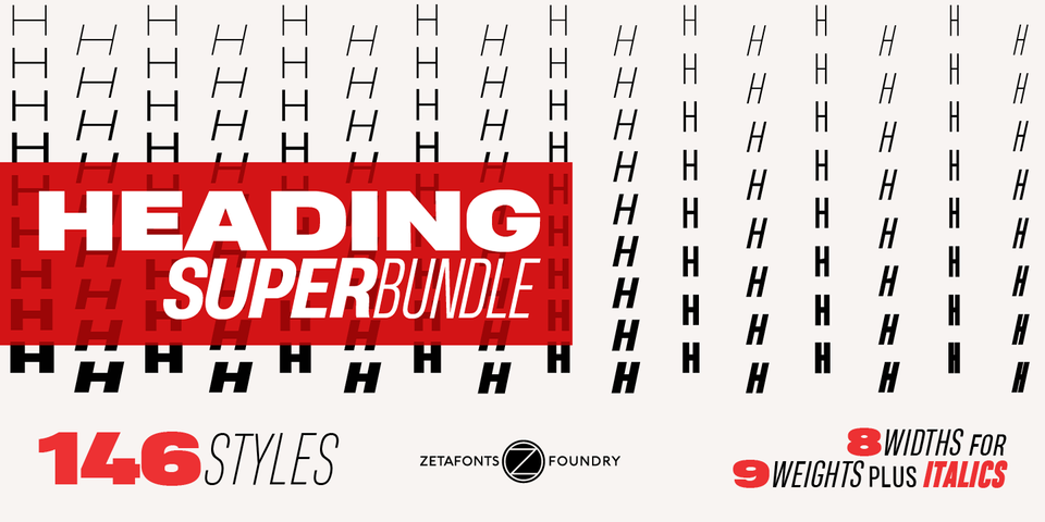 Heading Super Bundle by Zetafonts