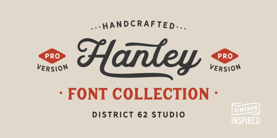 Hanley Pro font page