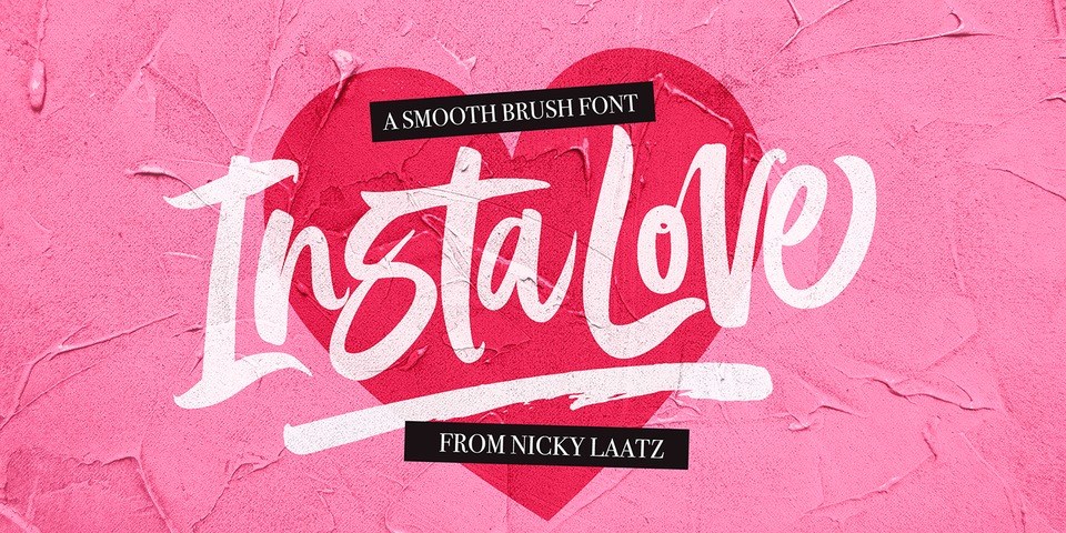 InstaLove Smooth font page