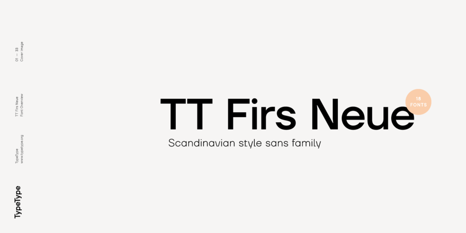 TT Firs Neue font page
