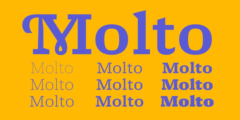 Molto font page