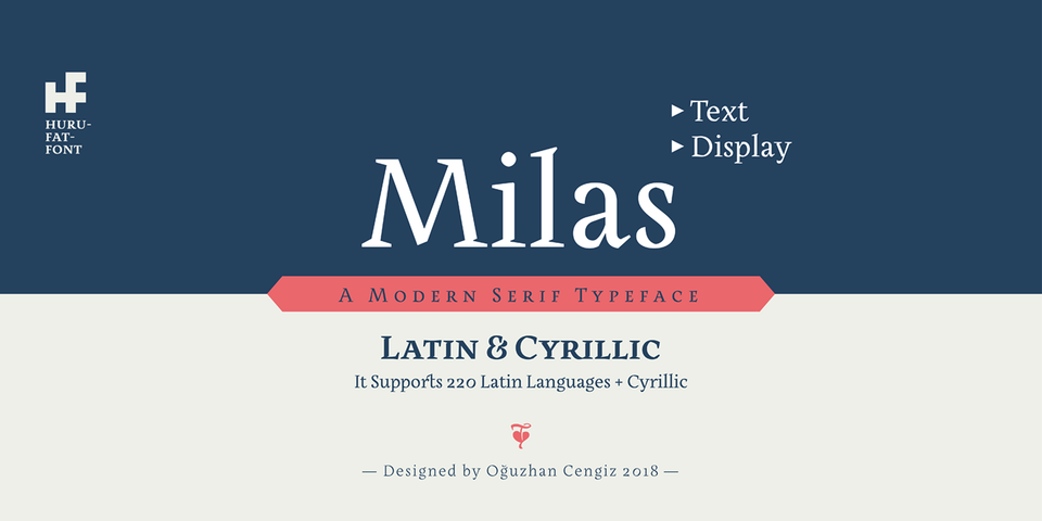 Milas font page