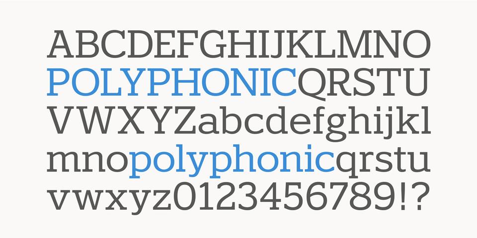 Polyphonic font page