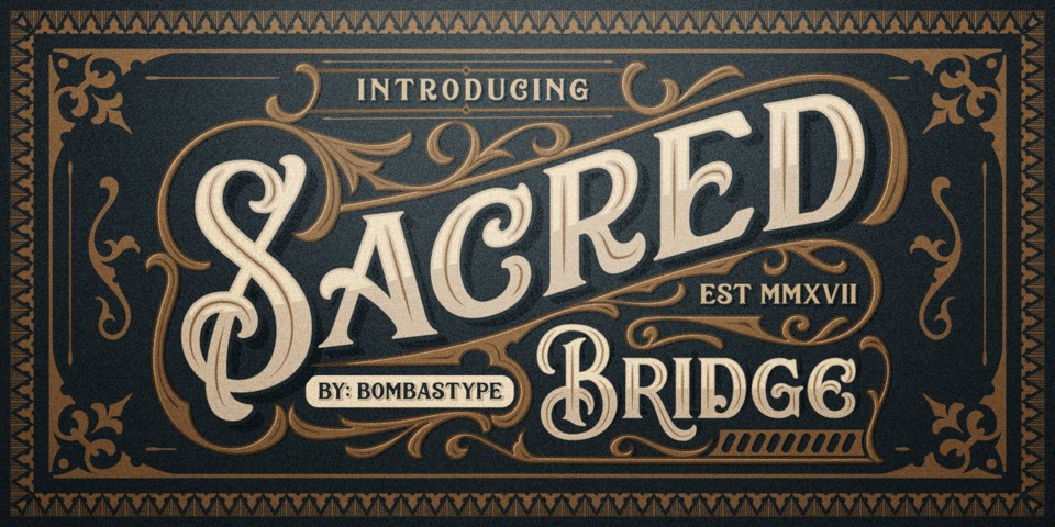 Sacred Bridge font page