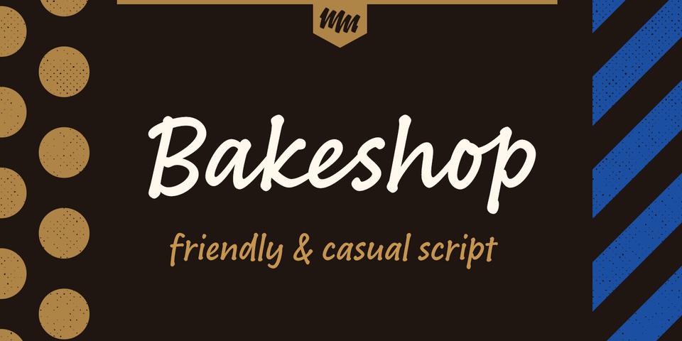 Bakeshop font page