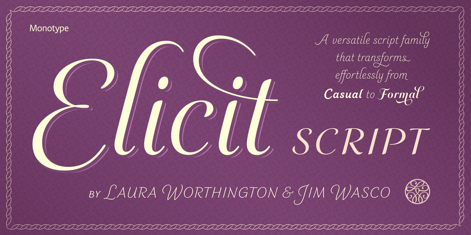 Elicit Script font page