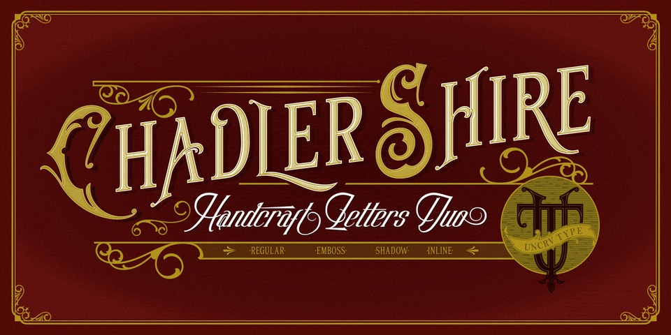 Chadlershire font page
