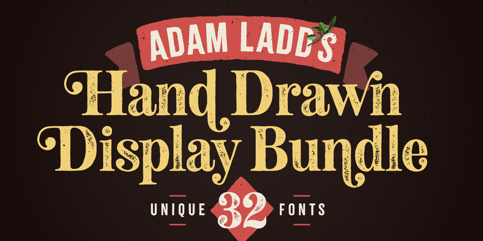 Adam Ladd's Hand Drawn Display Bundle by Adam Ladd