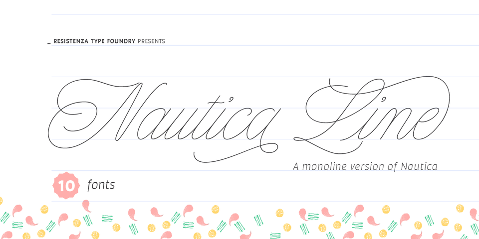 Nautica Line font page