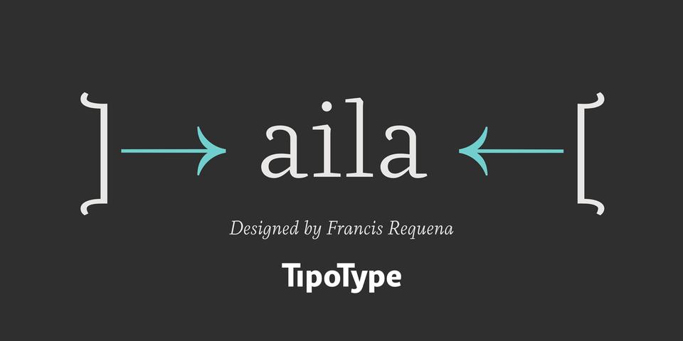 Aila font page