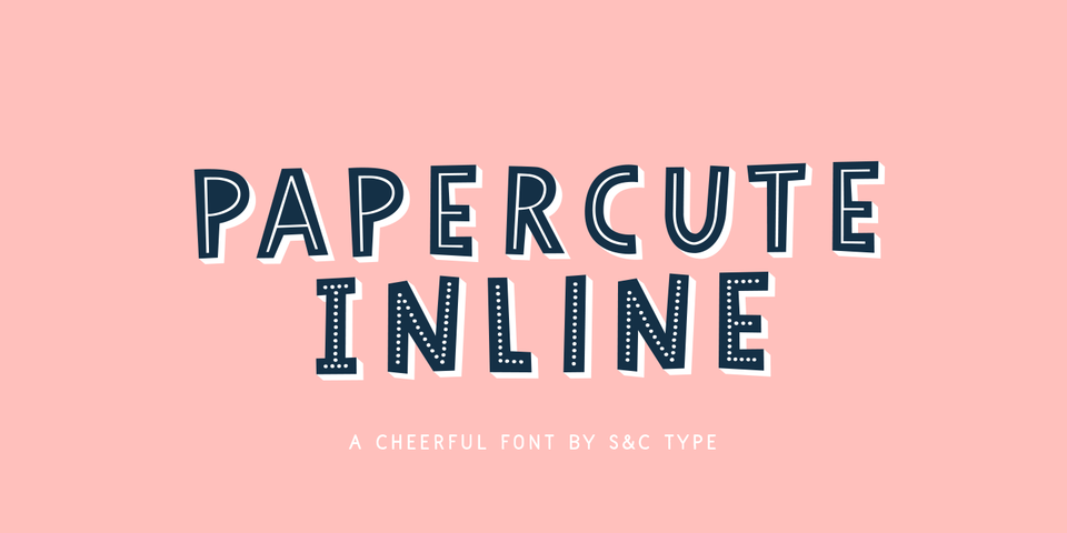 Papercute Inline font page