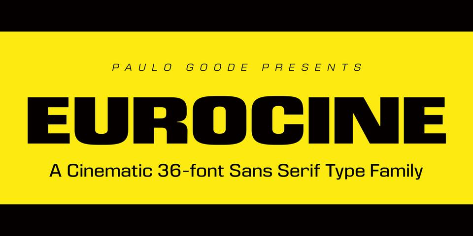 Eurocine font page
