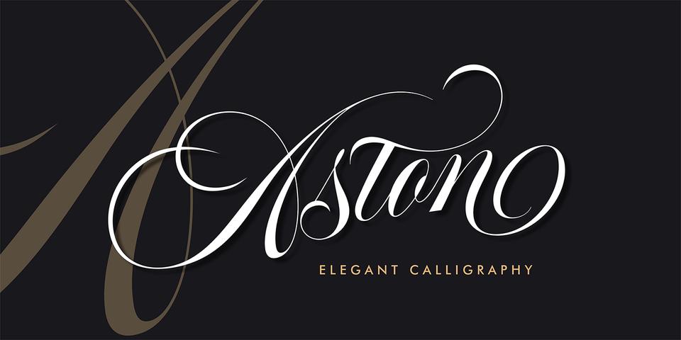 Aston Script font page