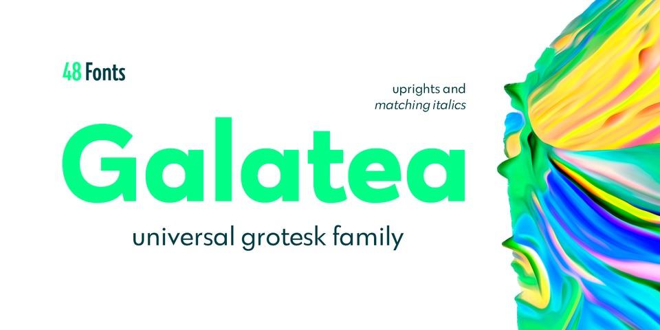 Galatea font page