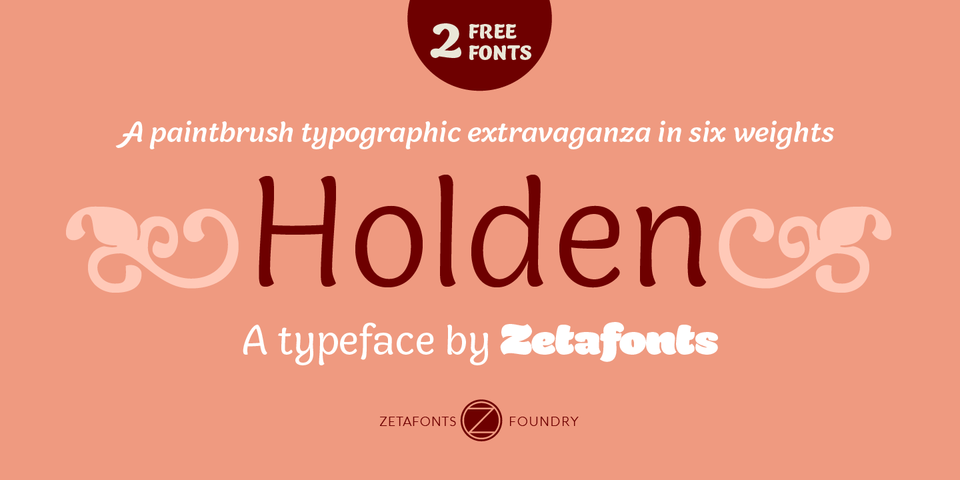 Holden font page