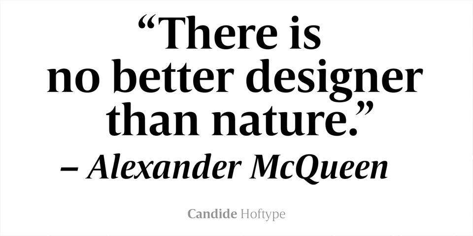 Candide font page